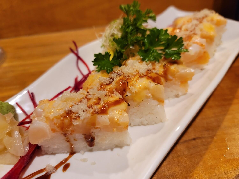 Seard Scallop Box Sushi