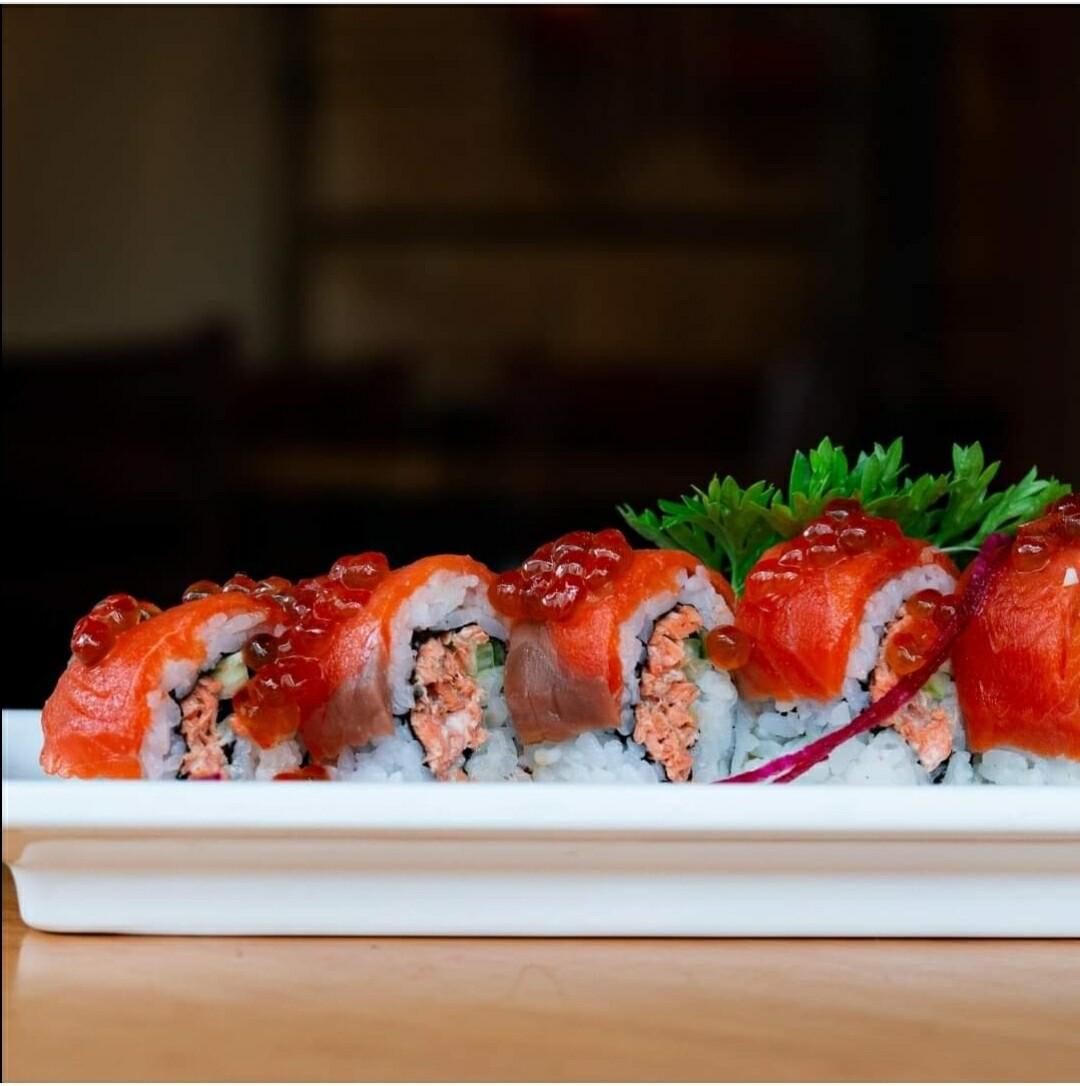 Triple Salmon Roll