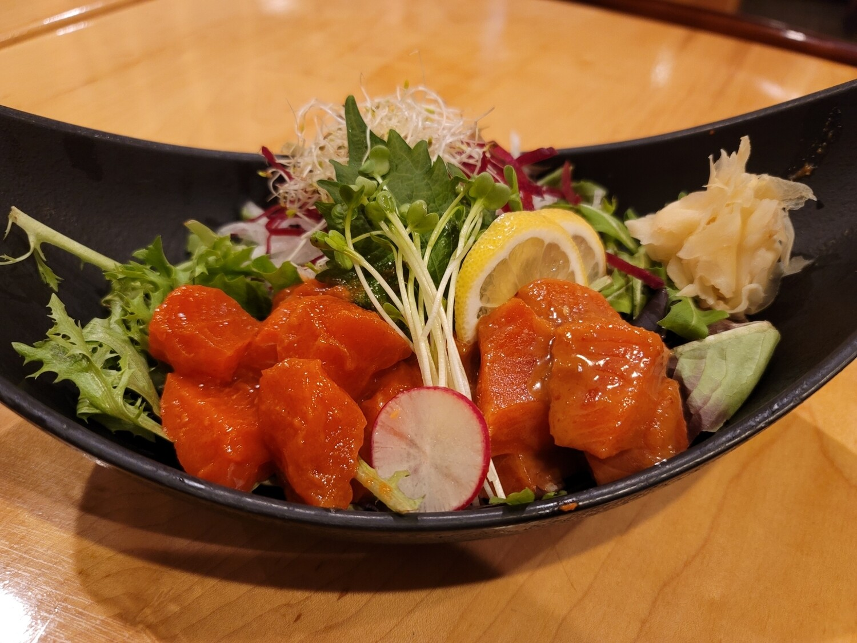 Spicy Salmon Sashimi