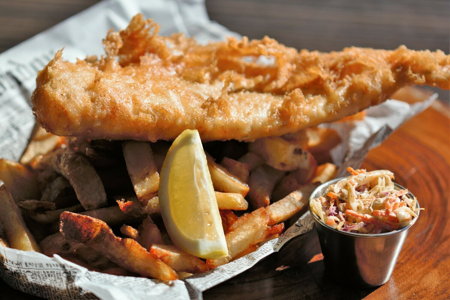 HADDOCK, fish & chips
