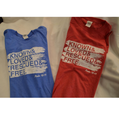 Rescued and Free - 2020 T-shirt - Blue