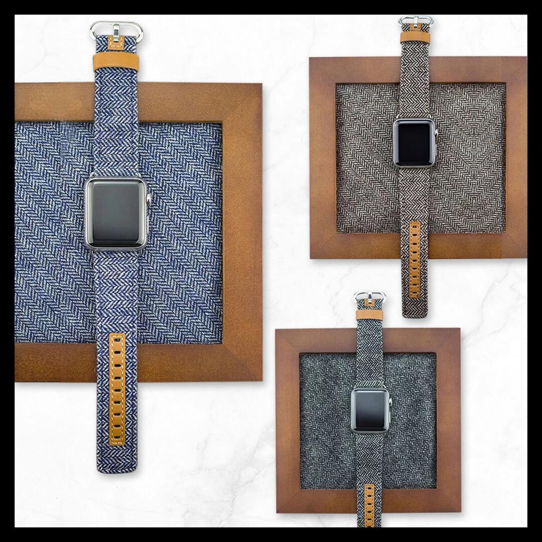 Techmate Denim PU Leather Strap