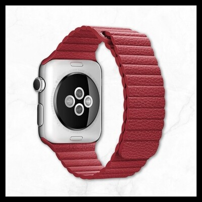 Techmate PU Leather Red Strap