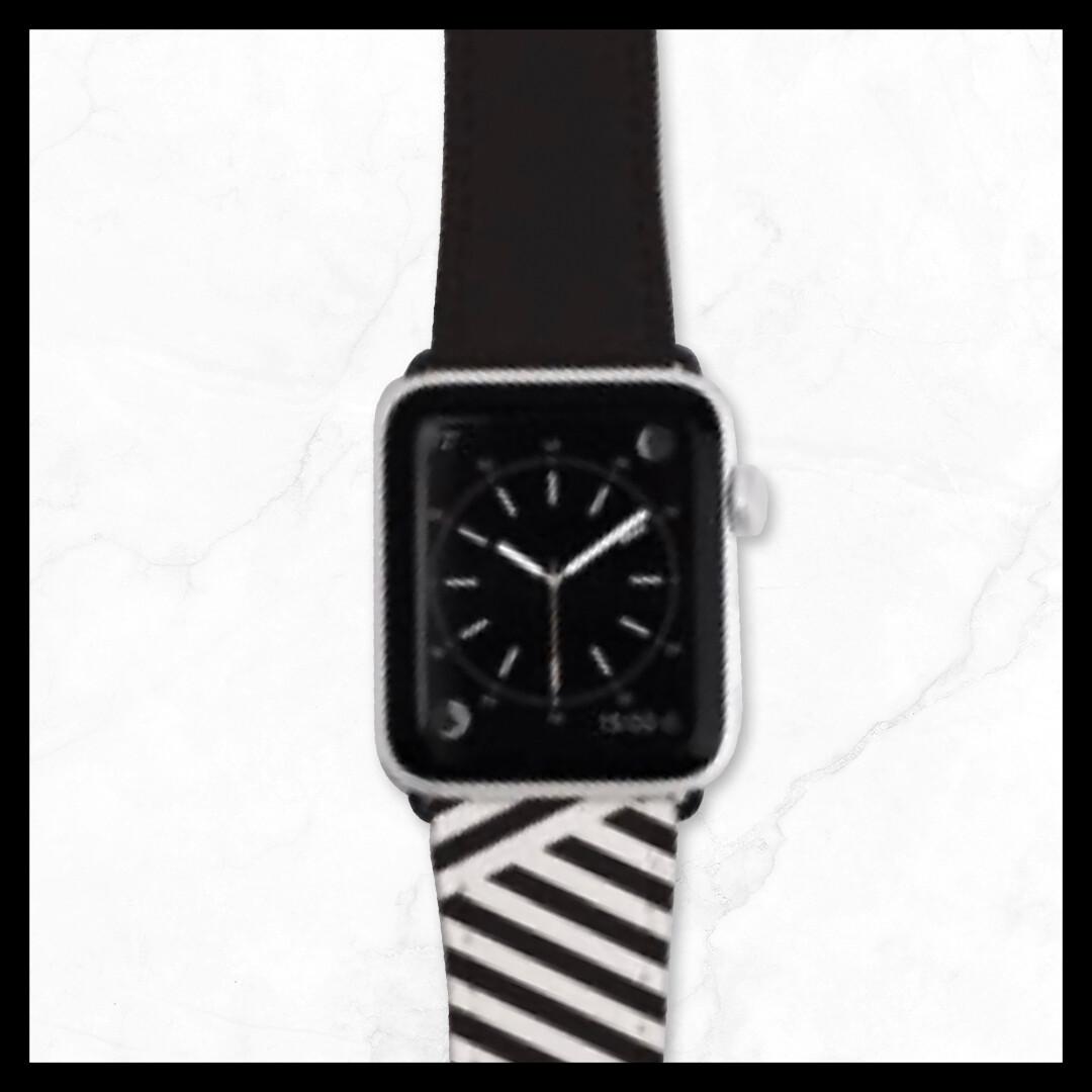 Techmate Stripe Pattern Leather Straps