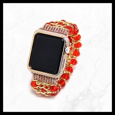 Techmate Red Bedazzled Bracelet