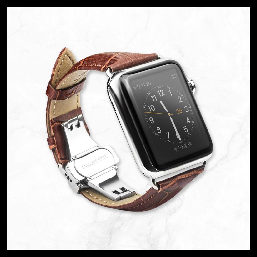 Techmate Genuine Leather Brown Straps