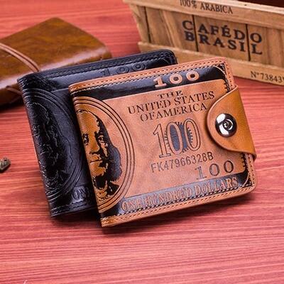 Dollar Pattern Designer Men's Wallet