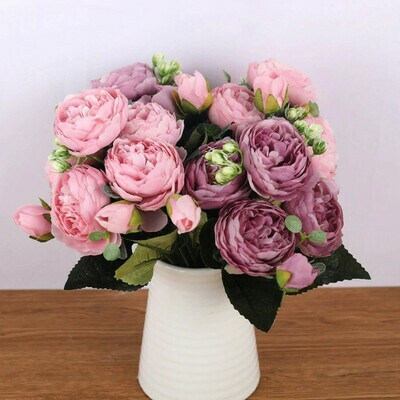 Silk Bouquet Peony Artificial Flowers