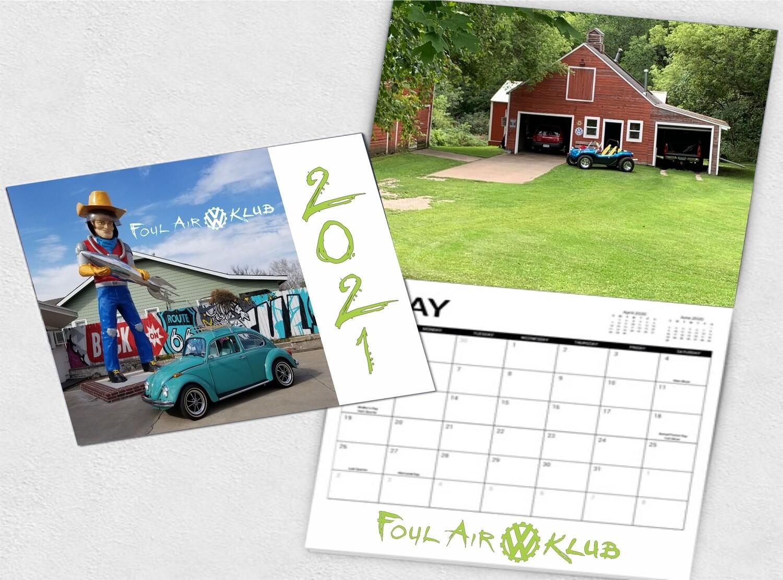 Foul Air VW Klub 2021 Calendar