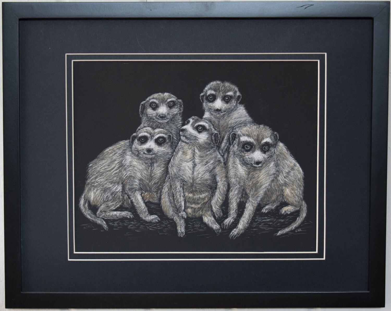 """Meerkat Family"" by Ena Sroat"