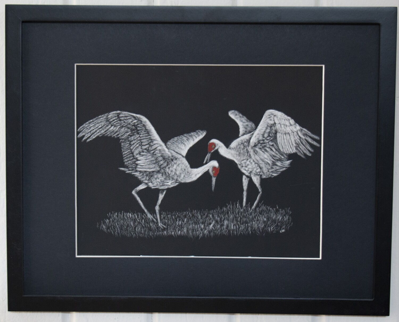 """Crane Courtship Dance"" by Ena Sroat"
