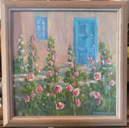 Summer Hollyhocks by Joseph Bertola