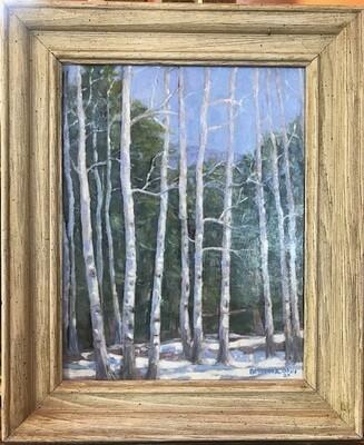 Winter Aspens by Joseph Bertola