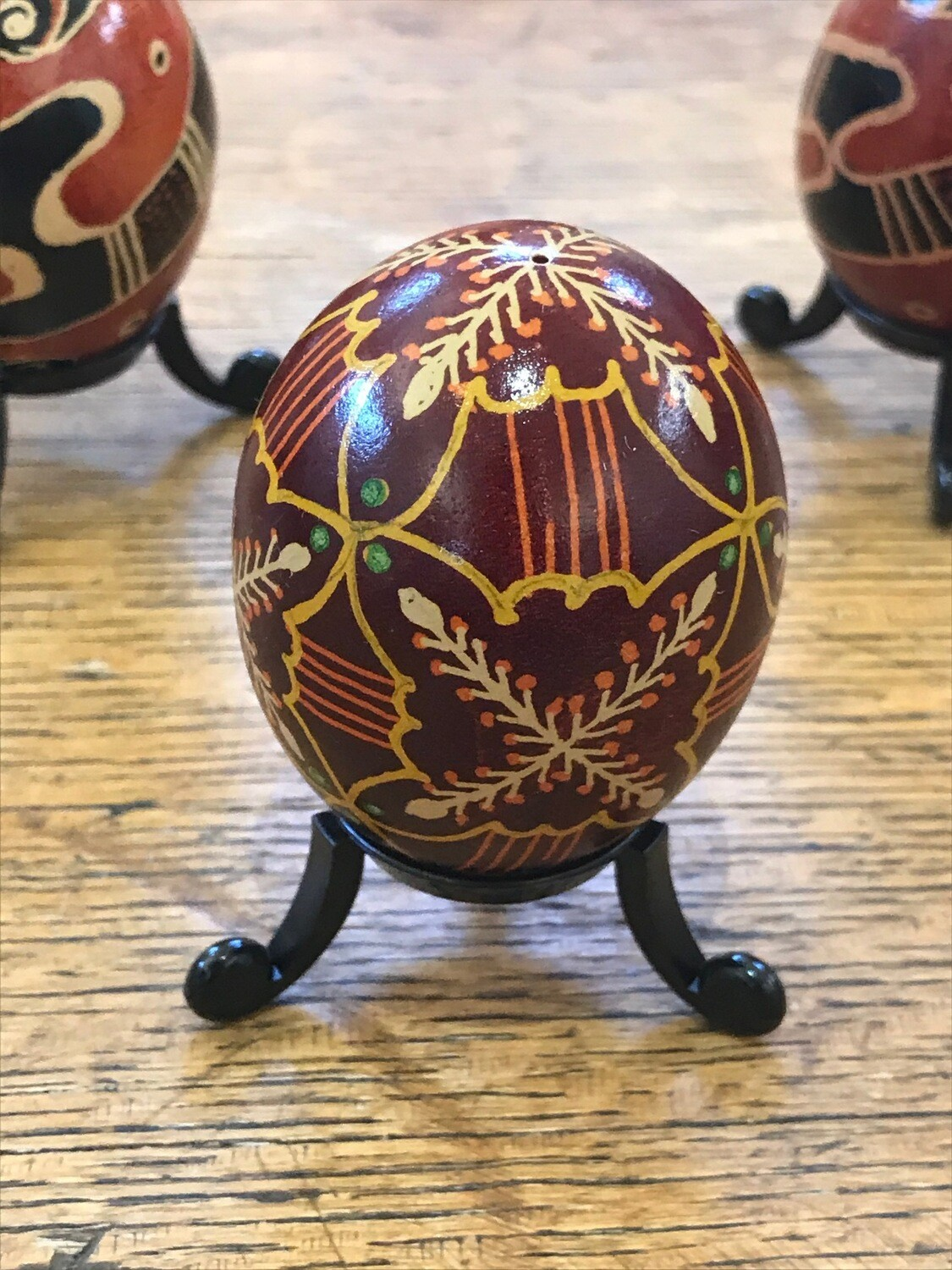 Pysanky Chicken Egg by Gladys Peltomaki