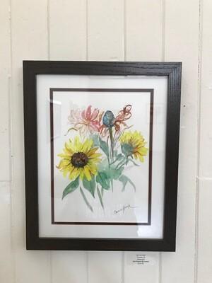 Sun Flowers & Cosmos by Marcia Hook