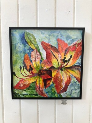 Day Lily Collage by Roberta Lutgens