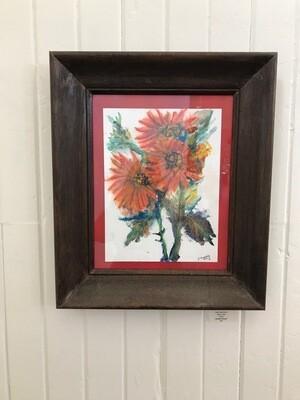 Orange Flowers by Jana Floersheim