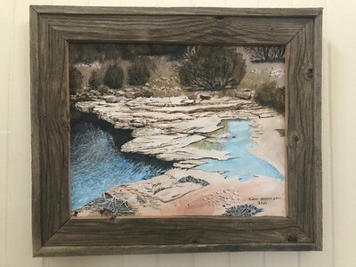 Ripples, Rocks, Reflection by Carl Swanson