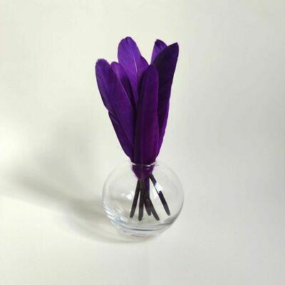 Перья утки фиолетовые 15 шт.