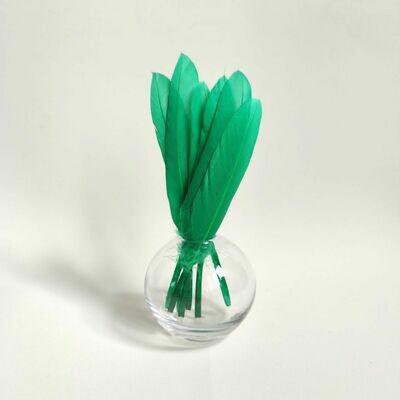 Перья утки зеленые 15 шт.