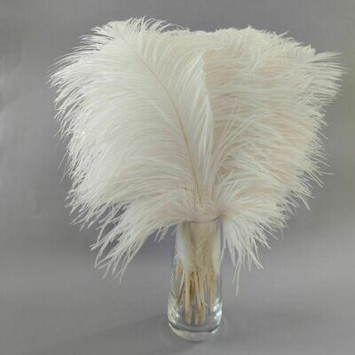 Перо страуса белое 35 - 40 см.