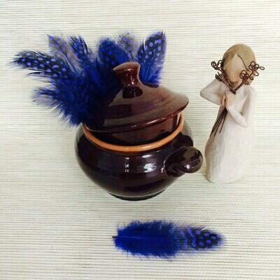 Перья цесарки синие 15 шт.