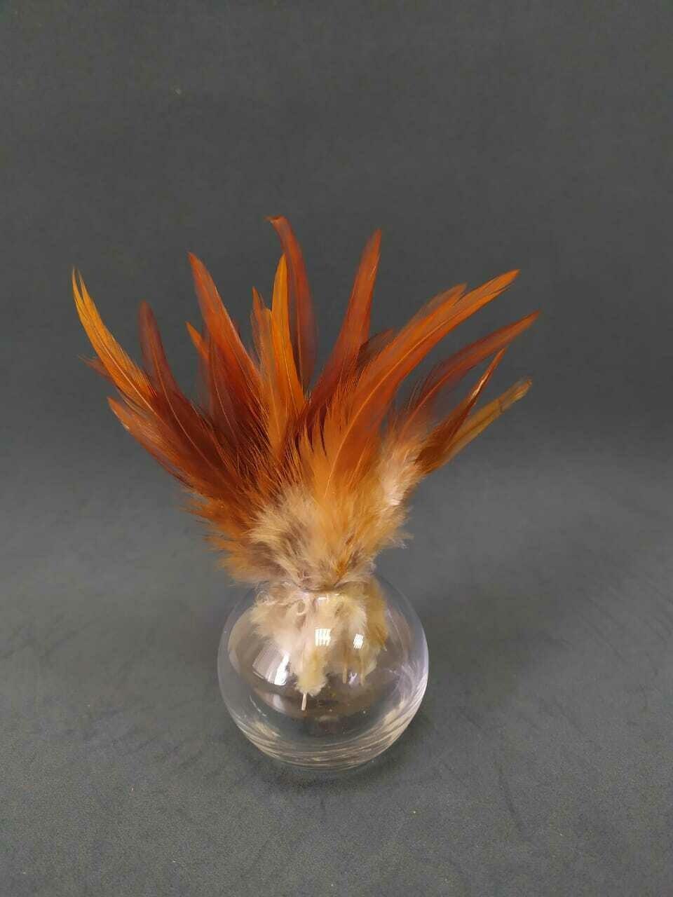 Перья петуха карамельные 10 - 15 см. 20 шт.