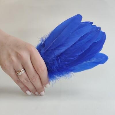 Гусиные перья синие 2 сорт 20 шт.