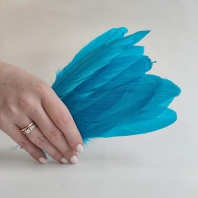 Гусиные перья голубые 2 сорт 20 шт.