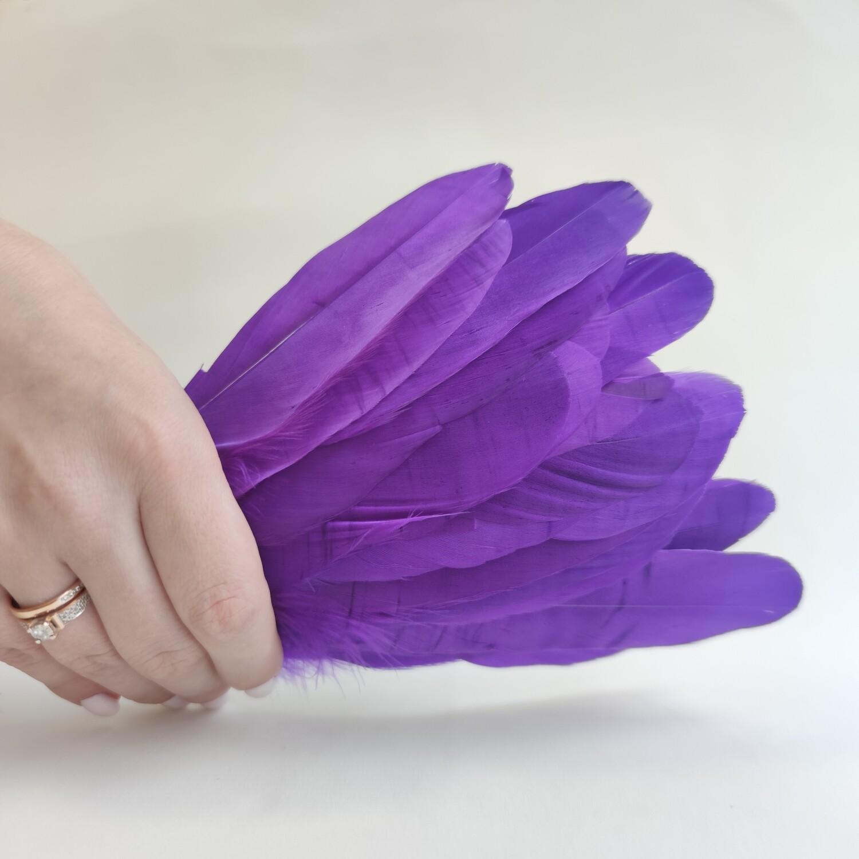 Гусиные перья фиолетовые 2 сорт 20 шт.