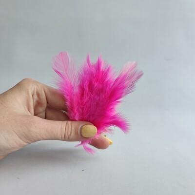 Перья петуха ярко-розовые 2 сорт 20 шт.