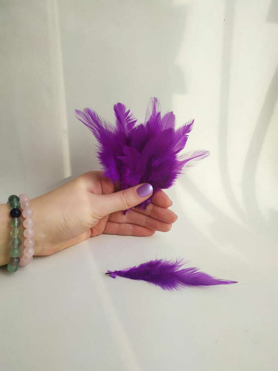 Перья петуха фиолетовые 2 сорт 20 шт.
