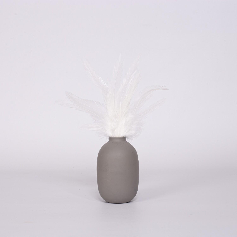 Перья петуха белые 13 - 18 см. 20 шт.