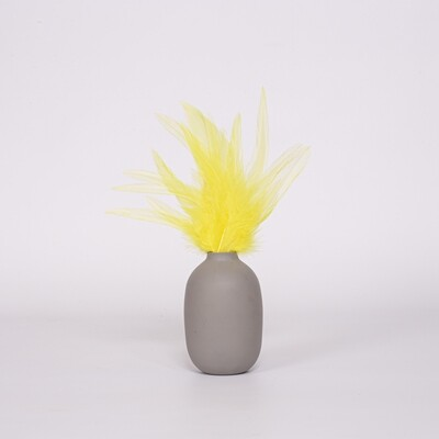 Перья петуха желтые 13 - 18 см. 20 шт.