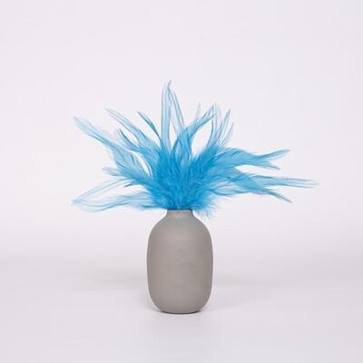 Перья петуха голубые 13 - 18 см. 20 шт.