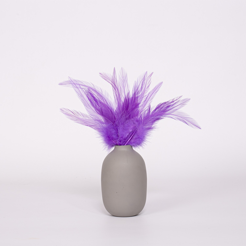Перья петуха фиолетовые 13 - 18 см. 20 шт.