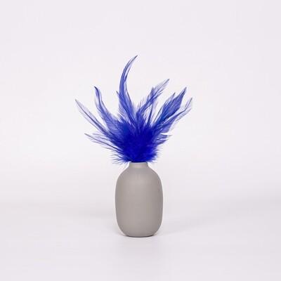 Перья петуха синие 13 - 18 см. 20 шт.