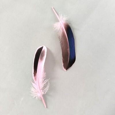 Перья кряквы розовые 10 шт.