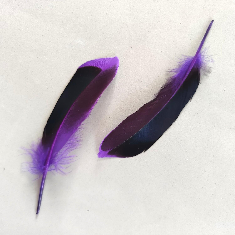Перья кряквы фиолетовые 10 шт.