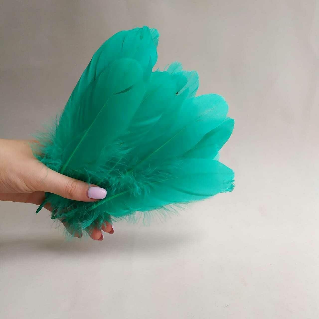 Гусиные перья тиффани 2 сорт 20 шт.