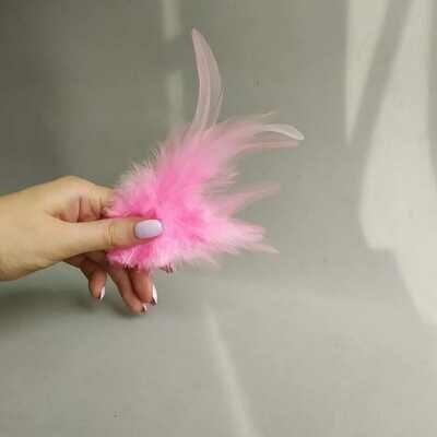 Перья петуха розовые 2 сорт 20 шт.