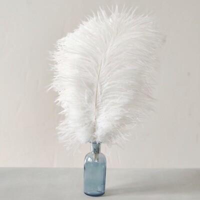 Перо страуса белое 30 - 35 см.