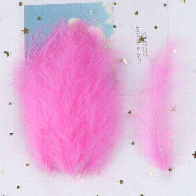 Перья марабу розовые 15 шт.