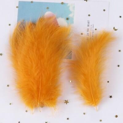 Перья марабу оранжевые 15 шт.