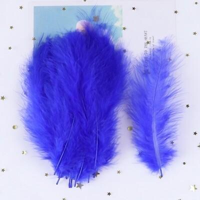 Перья марабу синие 15 шт.