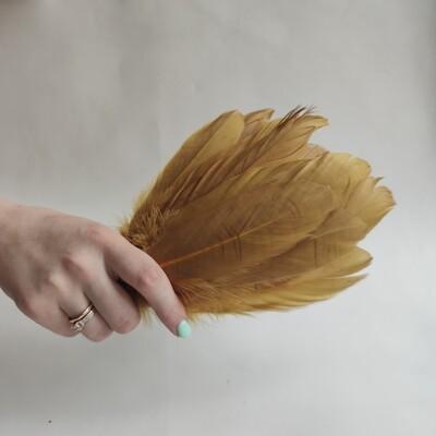 Гусиные перья оливковые 2 сорт 20 шт.