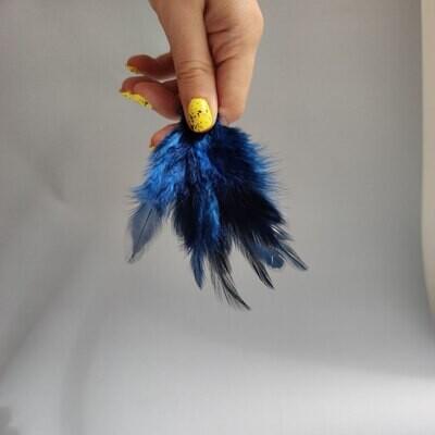 Перья петуха темно-синие 2 сорт 20 шт.