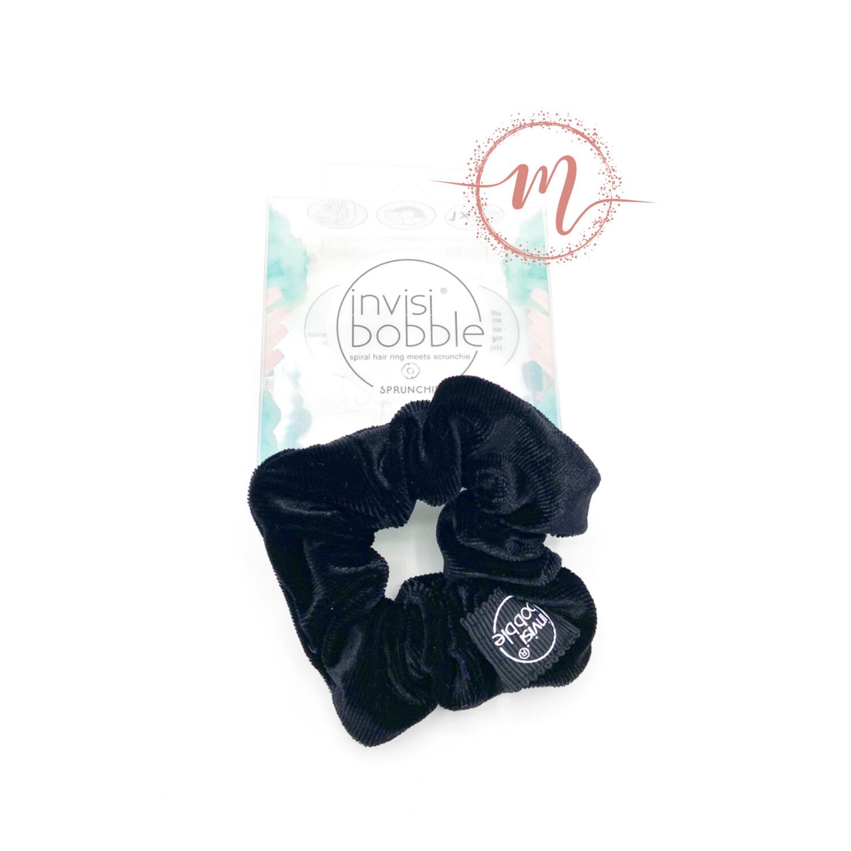Chouchou invisibobble Sprunchie en velours Noir
