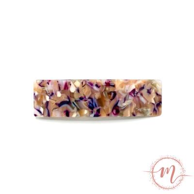 Barrette Écaille prune à clip