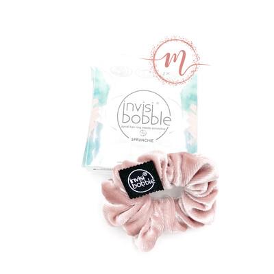 Chouchou invisibobble Sprunchie en velours Rose pastel